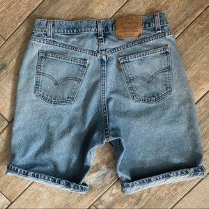 Vintage Levi's 550 Orange Tab stone wash shorts
